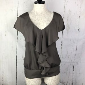 Gap Ruffle Front Sleeveless Top NWT